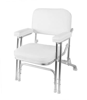 MARINE BOAT DELUXE FOLDING DECK CHAIR - WHITE (75001W) fishing yacht speed rib